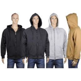 24 of Mens Thermal Zip Front Jacket With Sherpa Lining. Black Only
