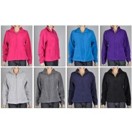 48 of Ladies Polar Fleece Zip Dfown Sweater / Jacket Plus Sizes