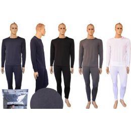 72 of Mens Flat Knit Thermal Set Assorted Color