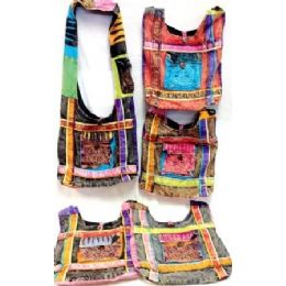 5 of Tie Dye Peace Sign Front Pocket Hobo Bags Nepal Purses