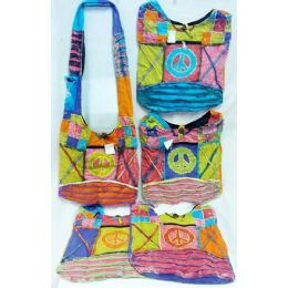 5 of Peace With Cross Design Hobo Bags Sling Purses Ast