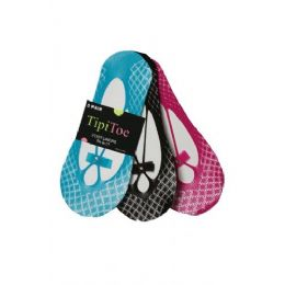 48 of 3 Pack Ladies Foot Liners Assorted Colors