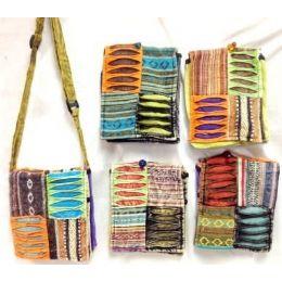 100 of Small Nepal Crossbody Bags Tie Dye Fabric Sling Purses