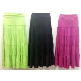 36 of Long Maxi Skirt Assorted Colors And Sizes