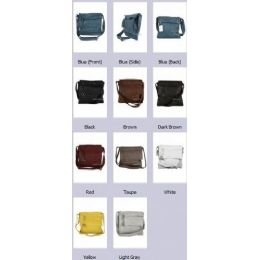 36 of Crossbody Soft Leather Sling Purse Assorted Colors