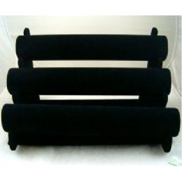 24 of Black Velvet Bracelet Jewelry Display Rack 3-Rows