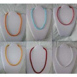 48 of Magnetic Handmade Necklace With Round Color Beads