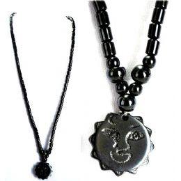 48 of Magnetic Hematite Handmade Necklace Sun Pendant