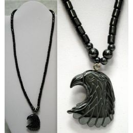 48 of Magnetic Hematite Necklace Eagle