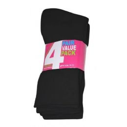 45 of Girls 4 Pair Value Pack Crew Sock Black Color Only