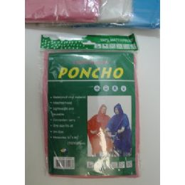 36 of Adult Rain Poncho In Assorted Colors