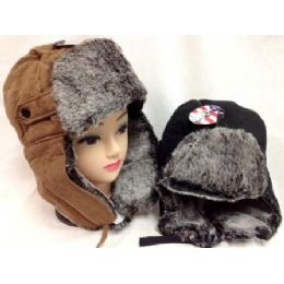 24 of Faux Fur Lined Boomer Hat Unisex Winter Hats