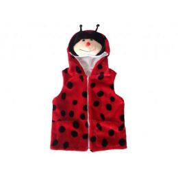 24 of Kids Vest With Animal Hoodie Lady Bug