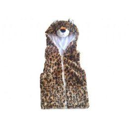 24 of Kids Vest With Animal Hoodie Cheetah