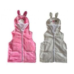 24 of Kids Vest With Animal Hoodie Bunny