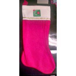 """180 of 17"""" Large Red Velvet Christmas Stocking"""