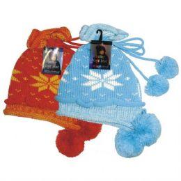 24 of Winter Knit Hat w/ Pom Pom