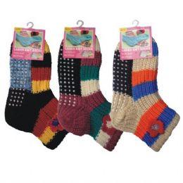 36 of Winter Knit Socks For Kids Non-Slip Bottom