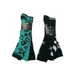 60 of Ladies 3 Pack Animal Print & Skull Knee High Sock