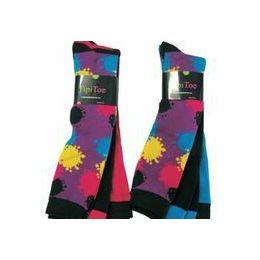 60 of Ladies 3 Pack Splattered Paint Knee High Sock