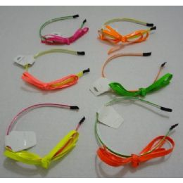 72 of Headband With BoW-Neon Colors