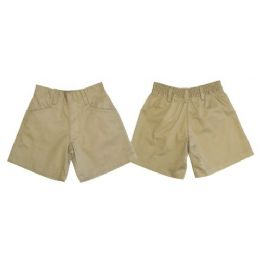 24 of Boys 2pkt HalF-Back Elastic School Shorts
