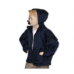 12 of Boys School Nylon Zip Jacket W/ Fleece Lining