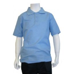 12 of Boys School Uniform Polo Shirt Light Blue Color
