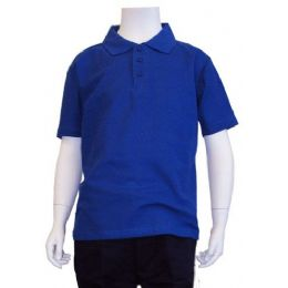 12 of Boys School Uniform Polo Shirt Royal Blue Color