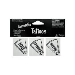 144 of 24pk Wht Tattoos 040272