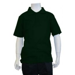 12 of Boys School Uniform Polo Shirt Hunter Green