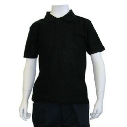 12 of Boys School Uniform Polo Shirt Black