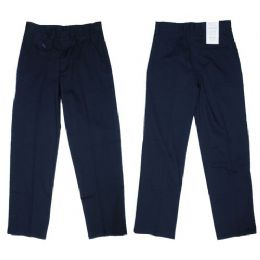 24 of Girls Flat Front Woven School Pant W/ Adjustable Waist Band