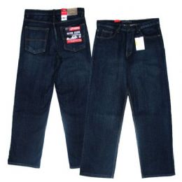14 of Big Men's 5-Pocket Cross Hatch Ring Spun Denim Jeans