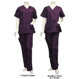 14 of 2 Pc Set Scrub Set W/ Half Back Elastic Cargo Pant