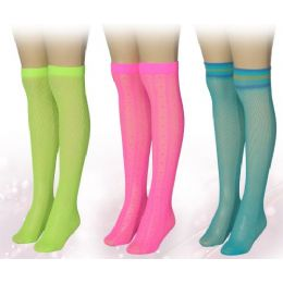 120 of Ladies Neon Colored Knee High