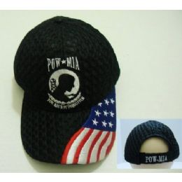 24 of Air Mesh Pow Hat [flag On Bill]