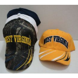 24 of West Virginia Hat [stripes On Bill]