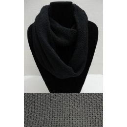 72 of Knitted Loop Scarf [black Only]