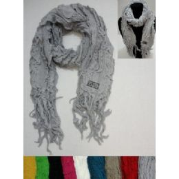 72 of Knitted Ruffled Scarf With Fringe