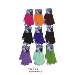 120 of Ladies Assorted Color Touch Screen Gloves