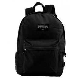 """24 of 17"""" Kids Classic Padded Wholesale Backpacks In Black"""