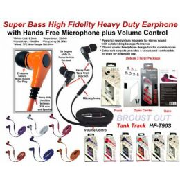 24 of Super Bass AntI-Tangle Flat Wire Stereo Earphone With Microphone Plus Volume Control