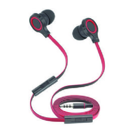 12 of Stereo Hands Free Earpieces With Volume Control And Flat AntI-Tangle Wire