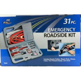 6 of 31 Piece Emergency Roadside Kit