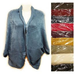 24 of Knit Woman Sweater Wrap Shawl Jacket Assorted Colors