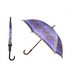 60 of 40 Inches 8 Ribbed Diameter Cane Printed Umbrella