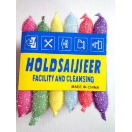 72 of 6 Pcs Assorted Colors Sponge Cleaner