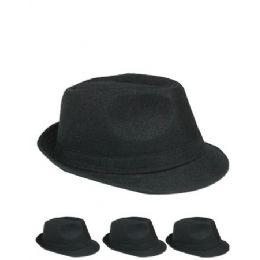 24 of Unisex Fedora Hat In Solid Black