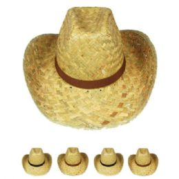 24 of WESTERN COWBOY HAT ASSORTED COLOR BAND